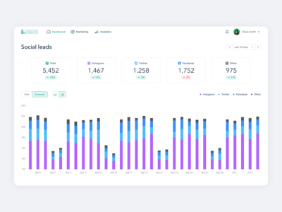 Marketing Platform Social Leads Dashboard