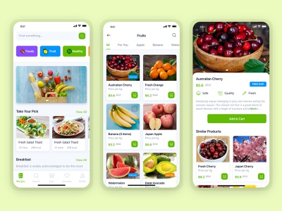 Grocery Delivery App Design Inspired by Instacart app mobile app design branding vector food app app ui fruit app graphic design grocery service app uiux design delivery app delivery service ondemandapp grocery online app design grocery delivery grocery app
