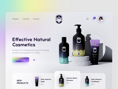HERO | ecommerce page cta hero section hero hero image main page ui ecommerce page ecommerce design ecommerce app ecommerce conditioner shampoo branding design cosmetics