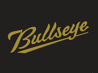 Bullseye type sports branding custom lettering custom type lettering logo typography russell pritchard