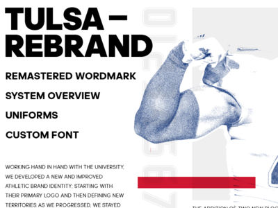 Layout pritchard russell adidas design graphic university tulsa rebrand identity brand sports indesign