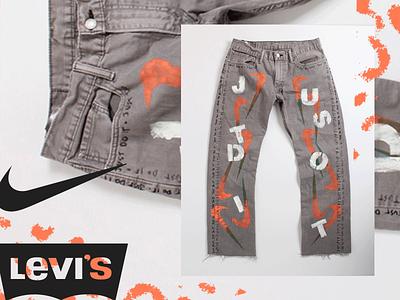 Levi's Nike Customs social digital art crafted made design apparel denim levis nike