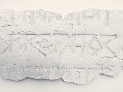 "Predator Concept ""Future Primitive"" sports adidas david beckham predator identity wordmark typography 3d das clay"