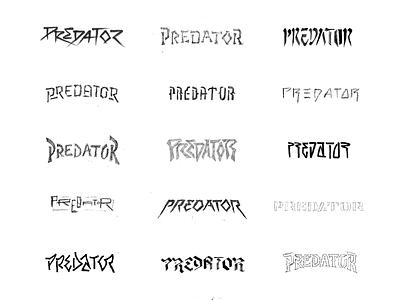 Predator ID Sketches typography sports soccer football futbol david beckham predator branding identity