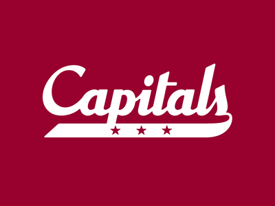 Washington Capitals Script vector lettering logo typography sports russell pritchard