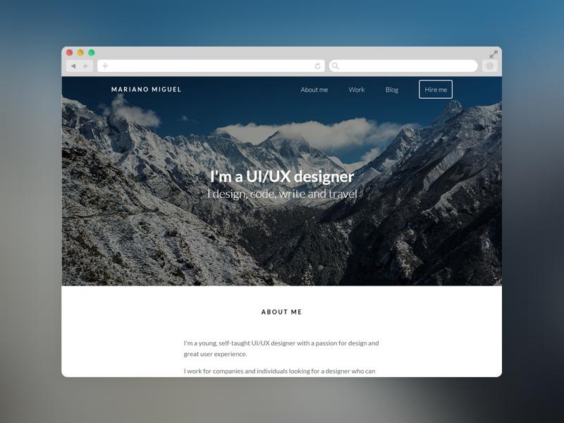 marianomiguel.com responsive website simple portfolio web