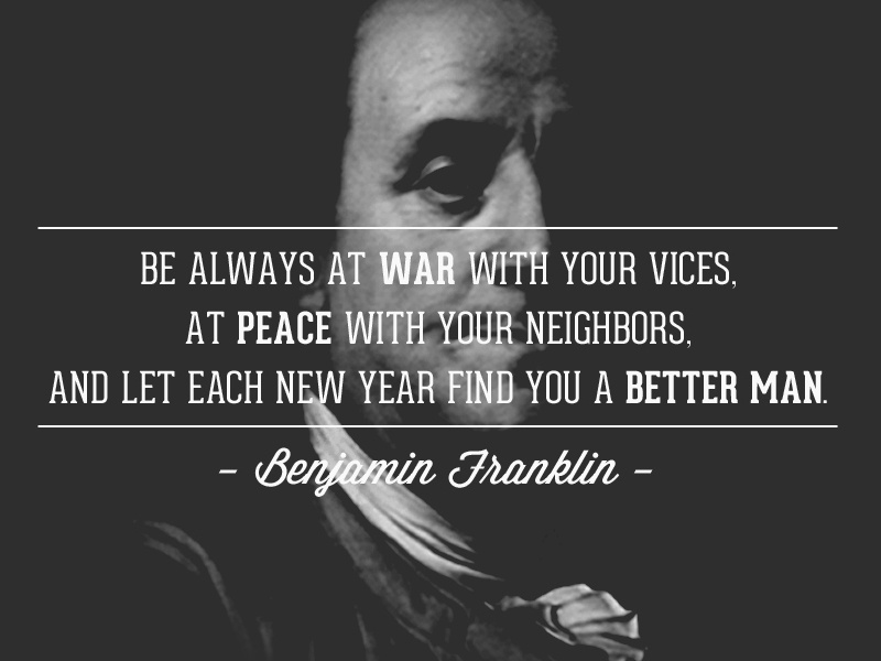 Ben Franklin New Years Quote