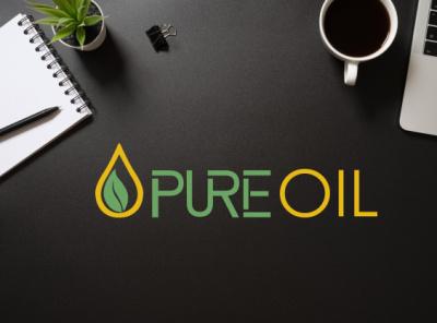 Organic Oil Logo Design flat minimal branding design logo vector logodesign graphicdesign minimalist logo modern logo illustration logo design