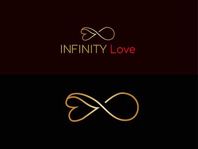 infinity love logo flat typography brand identity graphic design illustration minimalist logo vector branding modern logo logodesign logos logo