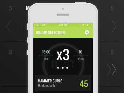 Builder App Concept ui ux fitness workout interface app