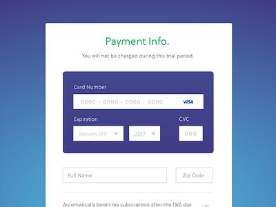 Koding - Payment Form form payment framework visual design credit card ui ux interface