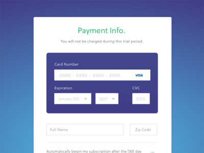 Koding - Payment Form form payment framework visual design credit card ui ux interface