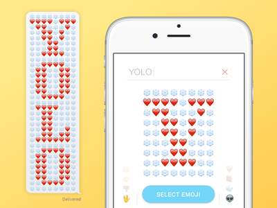 Emojigram messenger interaction design web app ux interface emoji