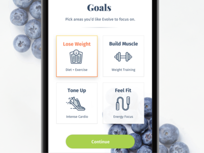 Ēvolve – Health Made Simple (concepts) pota health fitness app ux ui onboarding icons serif