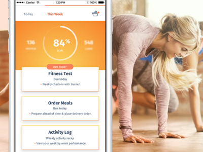 Ēvolve – Health Made Simple (concepts) pota tracker tasks schedule workout orange ui ux fitness health