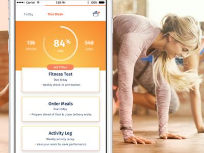 Ēvolve – Health Made Simple (concepts) pota tracker tasks schedule workout orange ui ux fitness health