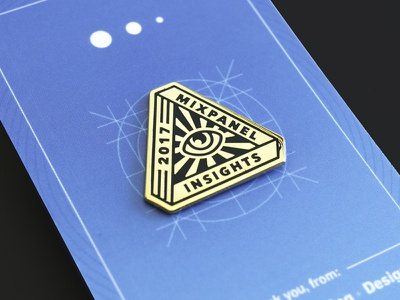 Mixpanel –Product Release Pins: Insights. eye swag card enamel pin