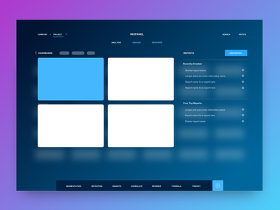 Mixpanel Navigation – Reimagined (Concept) website design typography wireframe ux ui navigation