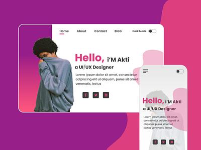 Portfolio Website figma xd animation ux design vector xd design ui uiux ui  ux design uidesign ux