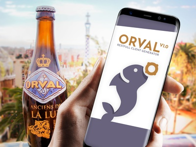 Orval logo for a javascript library orval illustrator logo beer