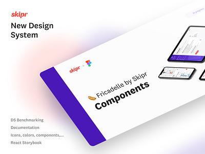 Skipr Design System cover light purple web design cover design system