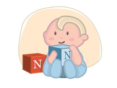Illu Baby Notion kid illustration baby