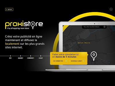 Simulator for Advertising geolocalisation tool laptop simulator black
