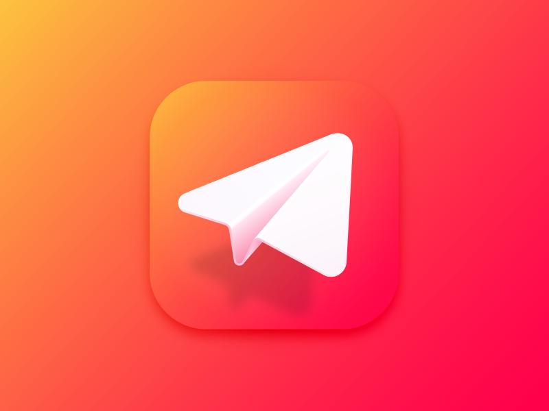 Fling's new app icon vector gradient paper plane app icon fling