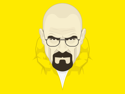 Walter White bryan cranston yellow illustration vector breaking bad heisenberg walter white