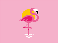 ...and here's a flamingo
