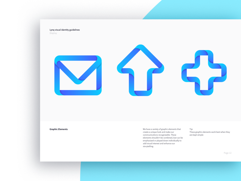 Lynq brand guidelines vector icon design branding logo finance guidelines brand element graphic gradient print crytocurrency blockchain link app 7robots