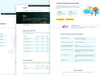 Hodge Bank - Product pages