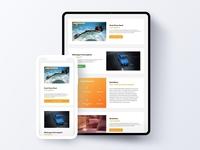 Travel Website –  Ipad iPhone