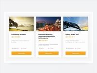 Travel Website - Cards