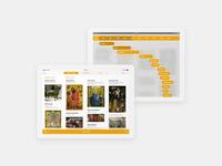 Art History App / Zeitstrahl Kunstgeschichte