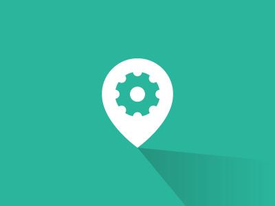 Job Finder Icon vol. 2 design icon logo finder job pin flat fun symbol