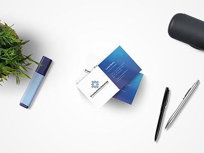 AMDM Identity business card health medical industry web web design healthcare identity