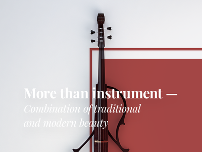 ECP design marsala classical instrument render 3d cello