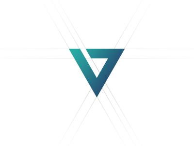 'V' for Vision logo icon mark identity brand vision triangle redesign it design symbol