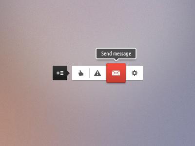 Quick Menu design icon pictogram menu slide ui web concept rebound
