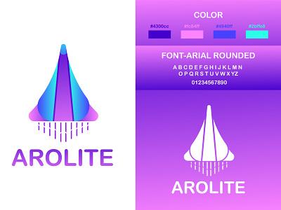 AROLITE LOGO DESIGN  CONCEPT logo axis spaceship