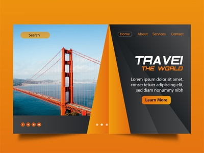 TRAVEL LANDING PAGE DESIGN FOR WEBSITE homepage explore travel agency ui ux design landingpage