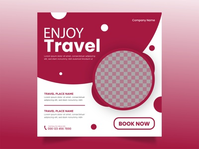 travel social media post design travel web banner travel agency