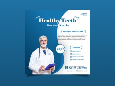 dental social media post design treements health doctor design desntal social post