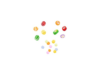 Traditional Japanese Candy sweets sugar traditional konpeito candy food japanese illo 2d flat minimal illustrator vector illustration