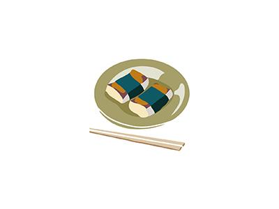 Mochi ricecake mochi food japanese illo flat 2d minimal illustrator vector illustration