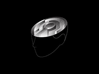 Mind Labyrinth I concept feeling emotion mood isometric brain maze labyrinth illo flat 2d minimal illustrator vector illustration