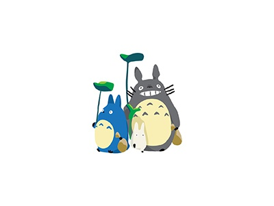 Totoro childhood movie anime animation studio ghibli hayao miyazaki totoro japanese illo flat 2d minimal illustrator vector illustration
