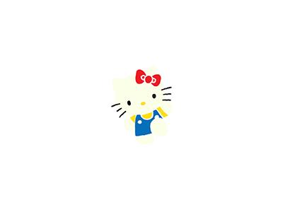 Hello Kitty mascot character mascot sanrio hello kitty japanese illo flat 2d minimal illustrator vector illustration