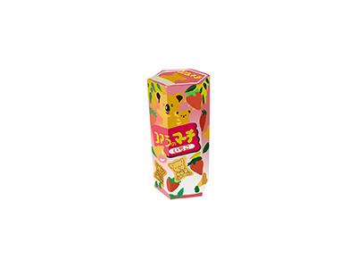 Koala's March flavor strawberry koala candy treat snack food japanese illo flat 2d minimal illustrator vector illustration